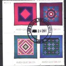 Sellos: ESTADOS UNIDOS, 2001 YVERT Nº 3222 / 3225 . Lote 179340842