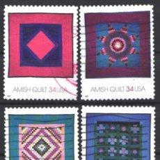 Sellos: ESTADOS UNIDOS, 2001 YVERT Nº 3222 / 3225. Lote 179340848