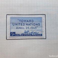 Sellos: 1945, ESTADOS UNIDOS, TOWARD UNITED NATIONS. Lote 179345336