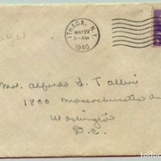 Sellos: 1940, ESTADOS UNIDOS, SOBRE CON SELLO Y CARTA ITHACA NEW YORK. Lote 180293166