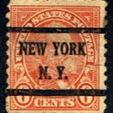 Sellos: (US 398) SELLO ESTADOS UNIDOS // YVERT 233 (DENT. 9 1/2X9 1/2) // 1922-25 .. MATASELLOS NEW YORK. Lote 180414253
