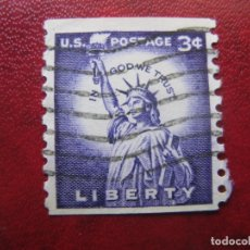 Sellos: -ESTADOS UNIDOS 1954, ESTATUA DE LA LIBERTAD, YVERT 581A. Lote 181108615