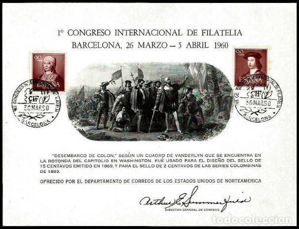 USA 1960 CIF BARCELONA (Sellos - Extranjero - América - Estados Unidos)