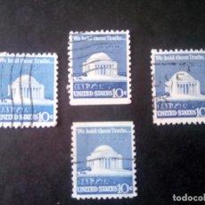 Sellos: ESTADOS UNIDOS 1973, MEMORIA JEFFERSON, DENTADO Y SIN DENTAR EN UN LADO, 1008/1008B. Lote 183279957