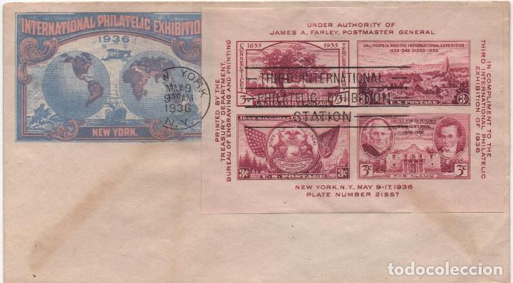 SOBRE ILUSTRADO DE EE UU DE 1936 (Sellos - Extranjero - América - Estados Unidos)