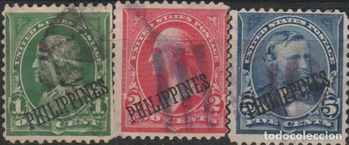 LOTE 9 SELLOS ESTADOS UNIDOS OCUPACION FILIPINAS (Sellos - Extranjero - América - Estados Unidos)