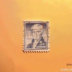 Sellos: ESTADOS UNIDOS - JAMES MONROE - 5º PRESIDENTE DE LOS ESTADOS UNIDOS - SELLO TALADRADO.. Lote 184881711
