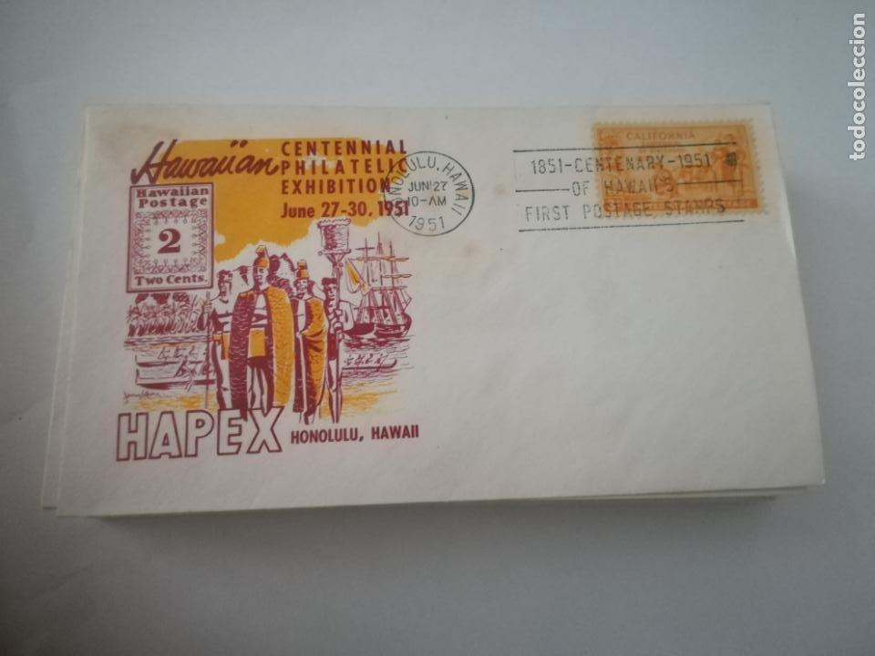 SOBRE PRIMER DIA. CENTENNIAL PHILATELIC EXHIBITION. 1951. HAPEX. HONOLULU, HAWAII. VER (Sellos - Extranjero - América - Estados Unidos)