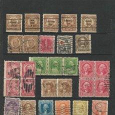 Sellos: EE.UU USADOS VARIOS SIN FIJASELLOS L4. Lote 189320480