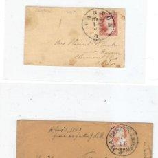 Sellos: DOS CARTAS 1853 SELLO SIN DENTAR Y 1868 SELLO DENTADO. Lote 190436892