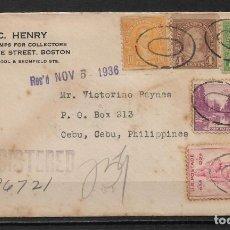Sellos: ESTADOS UNIDOS 1936 SOBRE CIRCULADO A FILIPINAS - 196. Lote 191952270