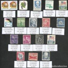 Sellos: E.E.U.U. VARIOS AÑOS - LOTE 17 SELLOS USADOS. Lote 193756751