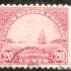 Sellos: 1922. ESTADOS UNIDOS. 242. PUERTA DE ORO DE SAN FRANCISCO. BARCO. USADO.. Lote 194278540