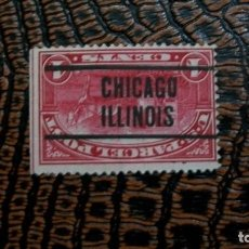 Sellos: /18.02/-ESTADOS UNIDOS-1912-1 C.-PREMATASELLADO-CHICAGO / ILLINOIS. Lote 194382821