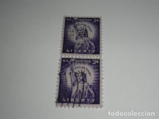 USA 2 SELLOS DE 3 CTS USADOS (Sellos - Extranjero - América - Estados Unidos)