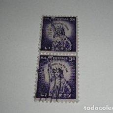 Sellos: USA 2 SELLOS DE 3 CTS USADOS. Lote 195101487