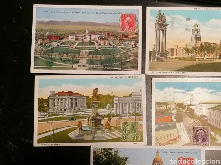 Sellos: EEUU, Usa, Postales 1933 enviadas Denver Zaragoza - Foto 2 - 195224616