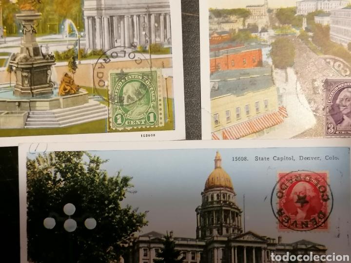 Sellos: EEUU, Usa, Postales 1933 enviadas Denver Zaragoza - Foto 5 - 195224616