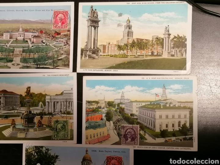 Sellos: EEUU, Usa, Postales 1933 enviadas Denver Zaragoza - Foto 7 - 195224616