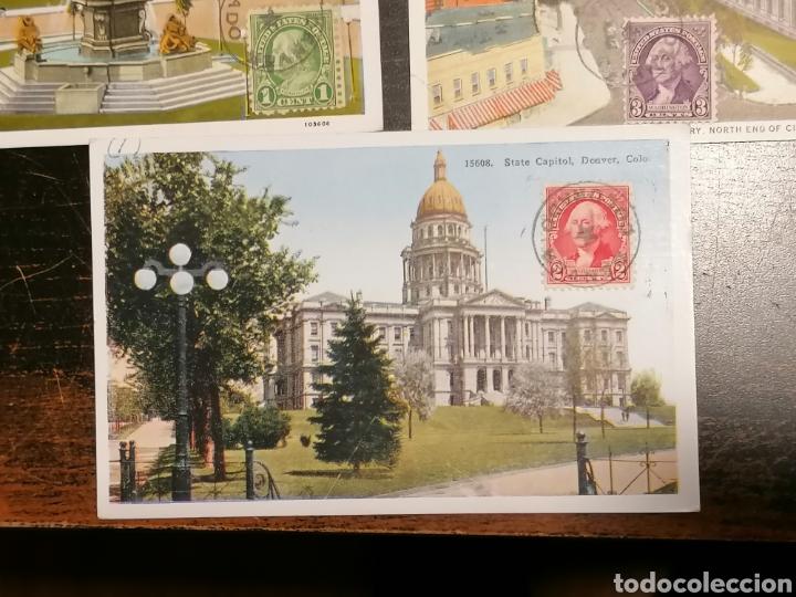 Sellos: EEUU, Usa, Postales 1933 enviadas Denver Zaragoza - Foto 8 - 195224616
