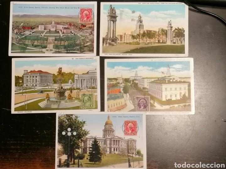 EEUU, USA, POSTALES 1933 ENVIADAS DENVER ZARAGOZA (Sellos - Extranjero - América - Estados Unidos)