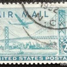 Sellos: 1947. ESTADOS UNIDOS. A 38. PUENTE SAN FRANCISCO-OAKLAND. SERIE COMPLETA. USADO.. Lote 195495435