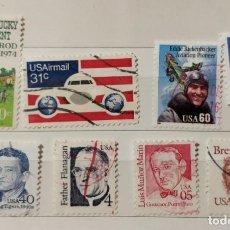 Sellos: ESTADOS UNIDOS, LOTE DE 8 SELLOS DIFERENTES, USADOS. LOS DE LA FOTO. Lote 195603446