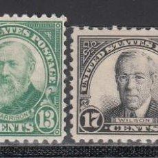 Sellos: ESTADOS UNIDOS, 1925-31 YVERT Nº 256 A / 259 A /*/ , DT.11. Lote 196021157