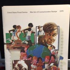Selos: EEUU USA SET OFICIAL 1979 NUEVO CON DESCRIPCIONES DE EMISIONES. Lote 197953667