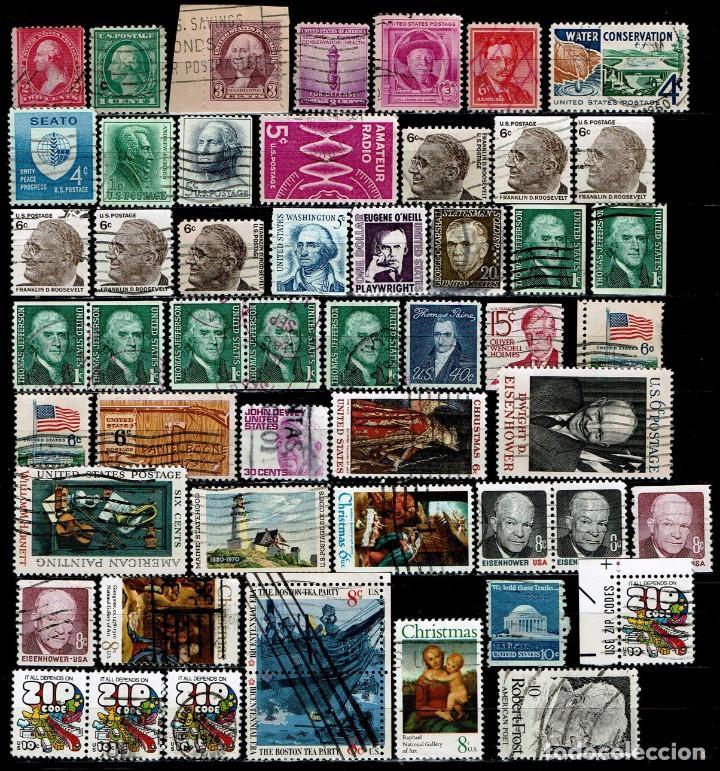 ESTADOS UNIDOS: LOTE 150 SELLOS (Sellos - Extranjero - América - Estados Unidos)