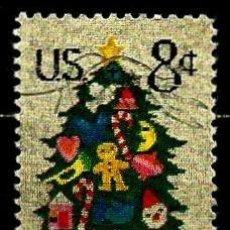 Sellos: ESTADOS UNIDOS SCOTT: 1508-(1973) (ARBOL DE NAVIDAD) USADO. Lote 227917277