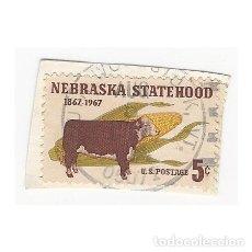 Sellos: SELLO ESTADOS UNIDOS EEUU USA NEBRASKA STATEHOOD 1867 1967 5 CENTAVOS. Lote 204656155