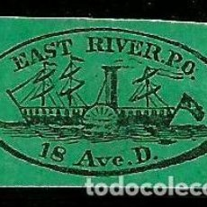 Sellos: USA 1855 EAST RIVER POST OFFICE. Lote 205687755