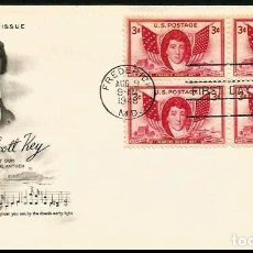 Sellos: USA 1948 FRANCIS SCOTT KEY. Lote 205693142