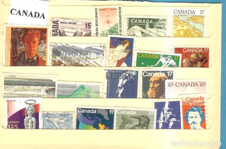 LOTE DE SELLOS DE CANADA (Sellos - Extranjero - América - Estados Unidos)