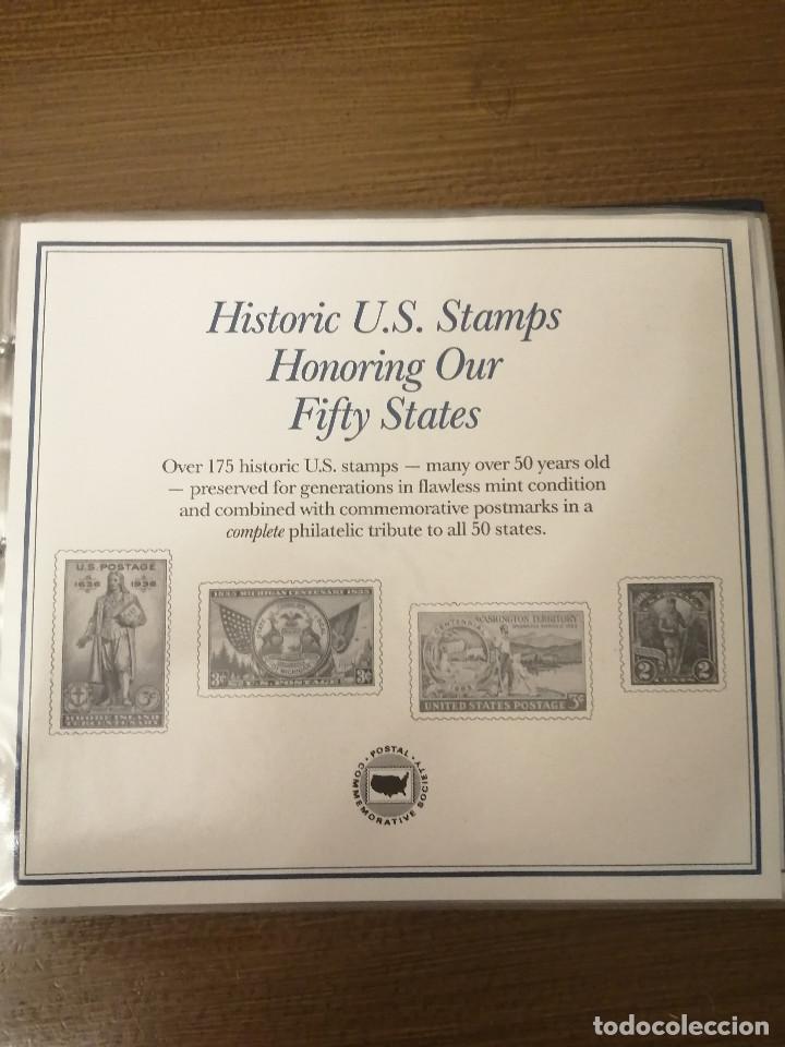 HISTORIC U.S. STAMPS -HONORING OUR FIFTY STATES- ALBUM COMPLETO 50 STATES , VER FOTOS (Sellos - Extranjero - América - Estados Unidos)
