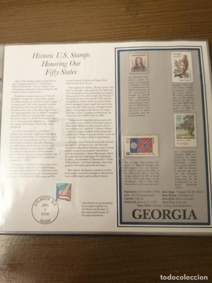 Sellos: HISTORIC U.S. STAMPS -HONORING OUR FIFTY STATES- ALBUM COMPLETO 50 STATES , VER FOTOS - Foto 5 - 208993645