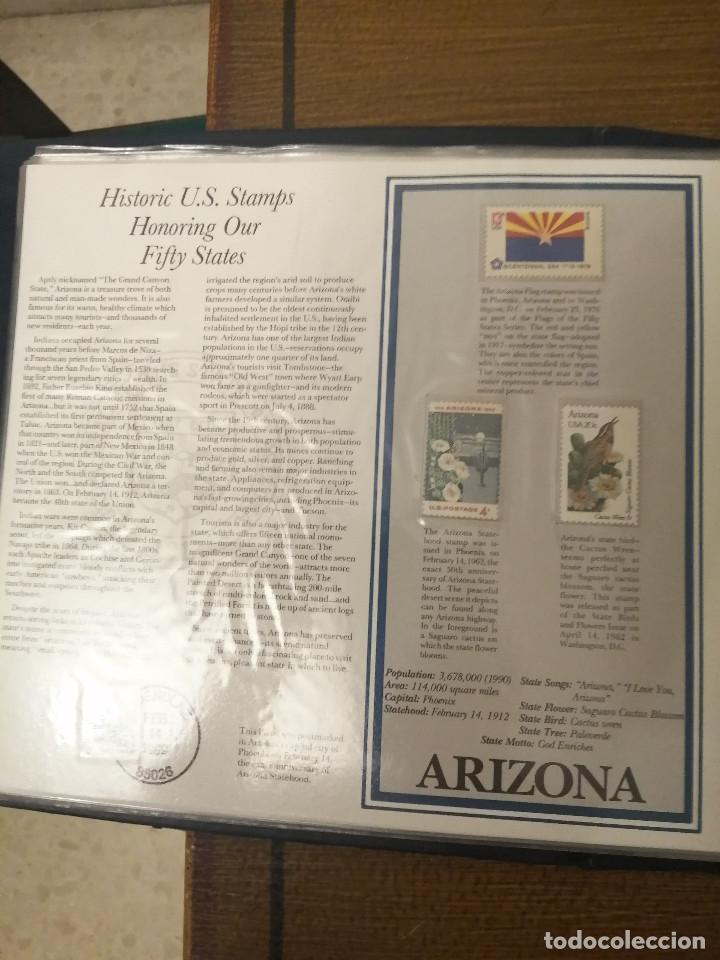 Sellos: HISTORIC U.S. STAMPS -HONORING OUR FIFTY STATES- ALBUM COMPLETO 50 STATES , VER FOTOS - Foto 8 - 208993645