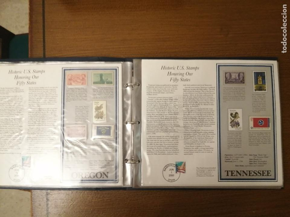 Sellos: HISTORIC U.S. STAMPS -HONORING OUR FIFTY STATES- ALBUM COMPLETO 50 STATES , VER FOTOS - Foto 9 - 208993645