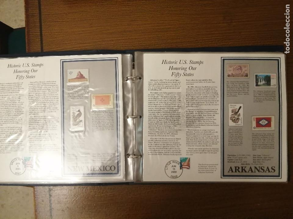 Sellos: HISTORIC U.S. STAMPS -HONORING OUR FIFTY STATES- ALBUM COMPLETO 50 STATES , VER FOTOS - Foto 10 - 208993645