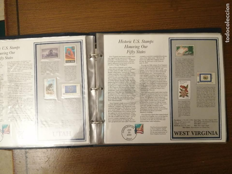 Sellos: HISTORIC U.S. STAMPS -HONORING OUR FIFTY STATES- ALBUM COMPLETO 50 STATES , VER FOTOS - Foto 11 - 208993645