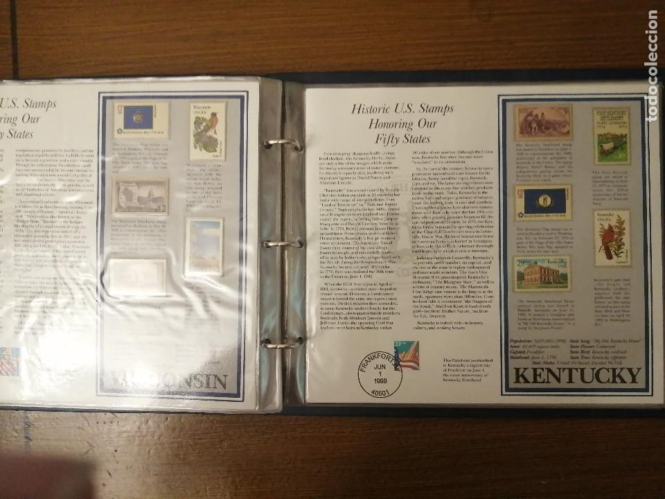 Sellos: HISTORIC U.S. STAMPS -HONORING OUR FIFTY STATES- ALBUM COMPLETO 50 STATES , VER FOTOS - Foto 13 - 208993645
