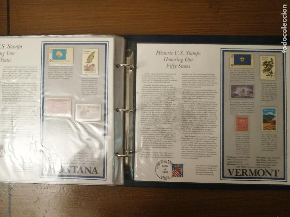 Sellos: HISTORIC U.S. STAMPS -HONORING OUR FIFTY STATES- ALBUM COMPLETO 50 STATES , VER FOTOS - Foto 14 - 208993645