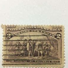 Sellos: UNITED STATES OF AMERICA POSTAGE. 2 CENT. AÑO 1893. USADO CONMEMORATIVO. Lote 209612867