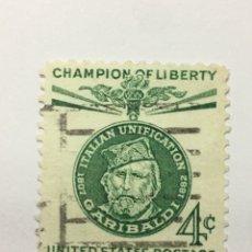 Sellos: SELLO 1960 ESTADOS UNIDOS GIUSEPPE GARIBALDI LIBERTADOR. Lote 209613415