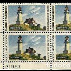 Sellos: USA 1970 FARO DE MAINE. Lote 210950287
