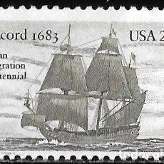 """Selos: ESTADOS UNIDOS 1983. BARCO """"CONCORD"""". 1683. EMIGRACIÓN ALEMANA A AMÉRICA. CONJUNTA CON ALEMANIA. Lote 211819892"""