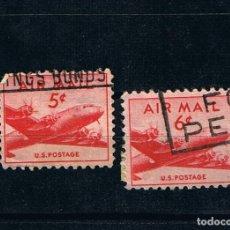 Francobolli: ESTADOS UNIDOS 1941-1949 DC-4 SKYMASTER -SELLOS USADOS US POSTAGE CORREO AEREO AIR MAIL. Lote 212910456