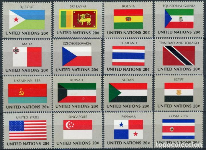 NACIONES UNIDAS NUEVA YORK 1980 IVERT 341/56 *** BANDERAS ESTADOS MIEMBROS DE NACIONES UNIDAS (II) (Sellos - Extranjero - América - Estados Unidos)