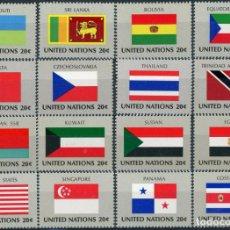 Sellos: NACIONES UNIDAS NUEVA YORK 1980 IVERT 341/56 *** BANDERAS ESTADOS MIEMBROS DE NACIONES UNIDAS (II). Lote 212988791